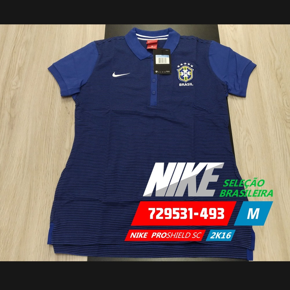camisa polo nike cbf authentic 100% original. Carregando zoom. a44865be771ca