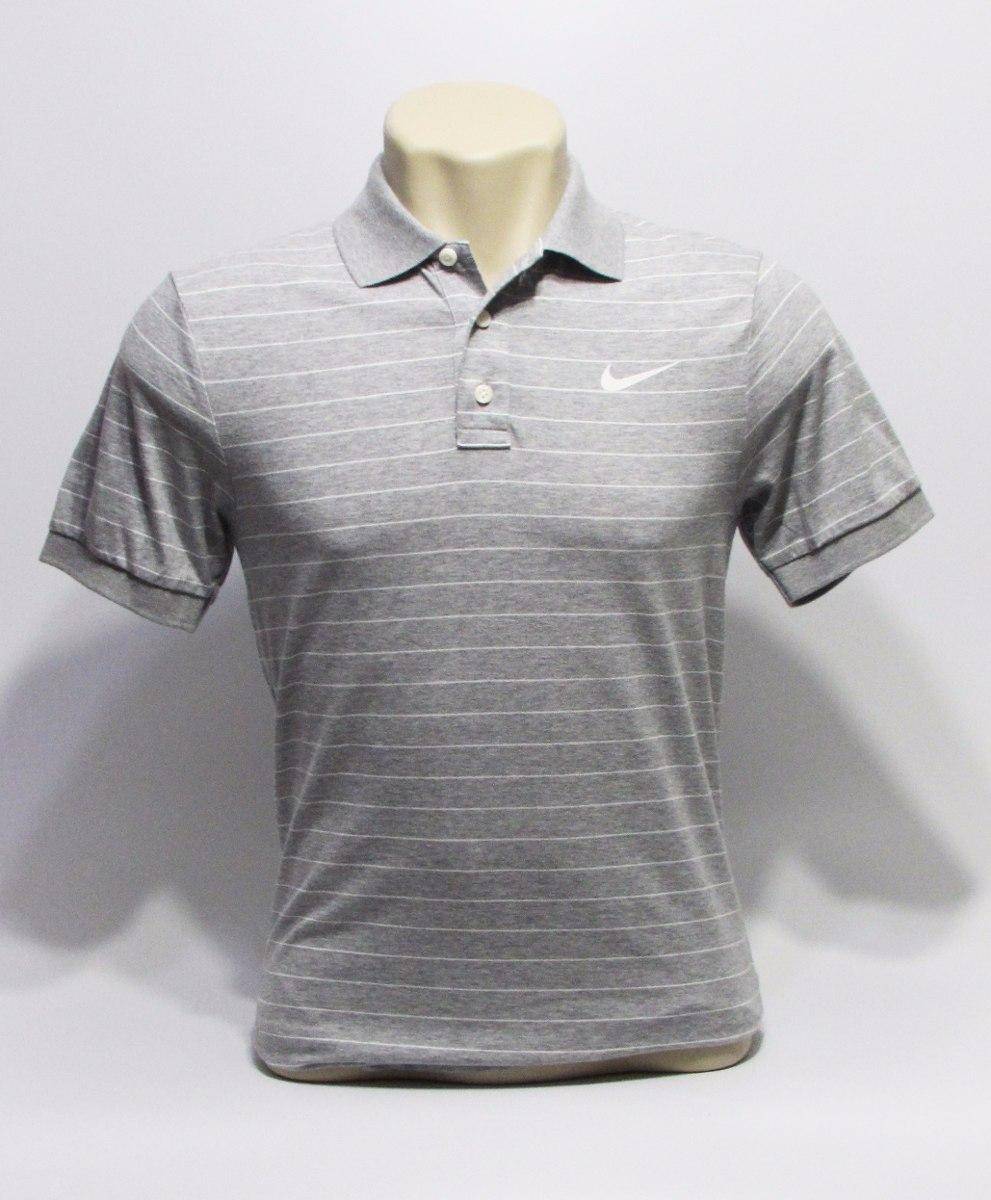 Camisa Polo Nike Cinza Listrada Masculina De 199 37df8ccd13593
