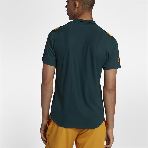 Camisa Polo Nike Court Roger Federer Rf Advantage Verde - R  199 ae0b4824bdcbf