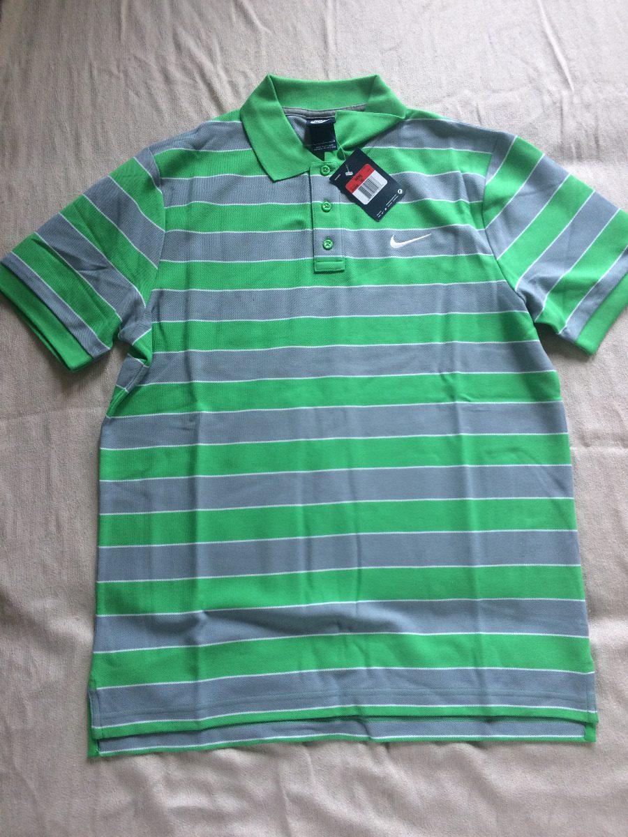 camisa polo nike masculina verde listrada original. Carregando zoom. a7b429420bb28