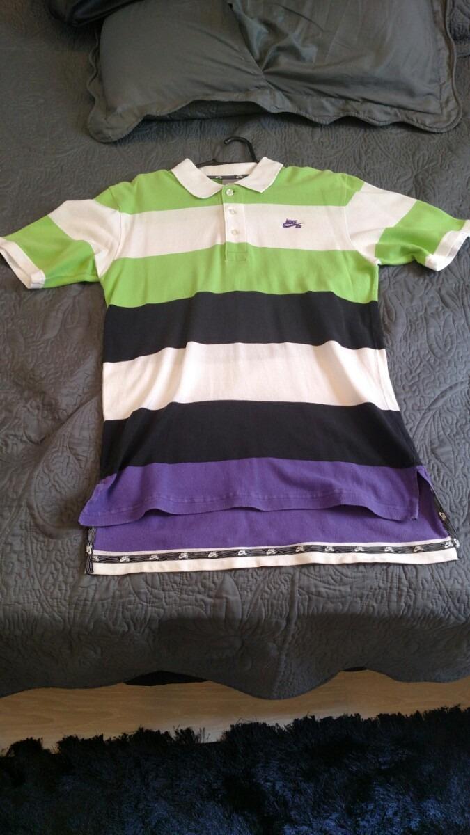 camisa polo nike sb. listrada verde roxa e branca. Carregando zoom. e5ffbadee28e2