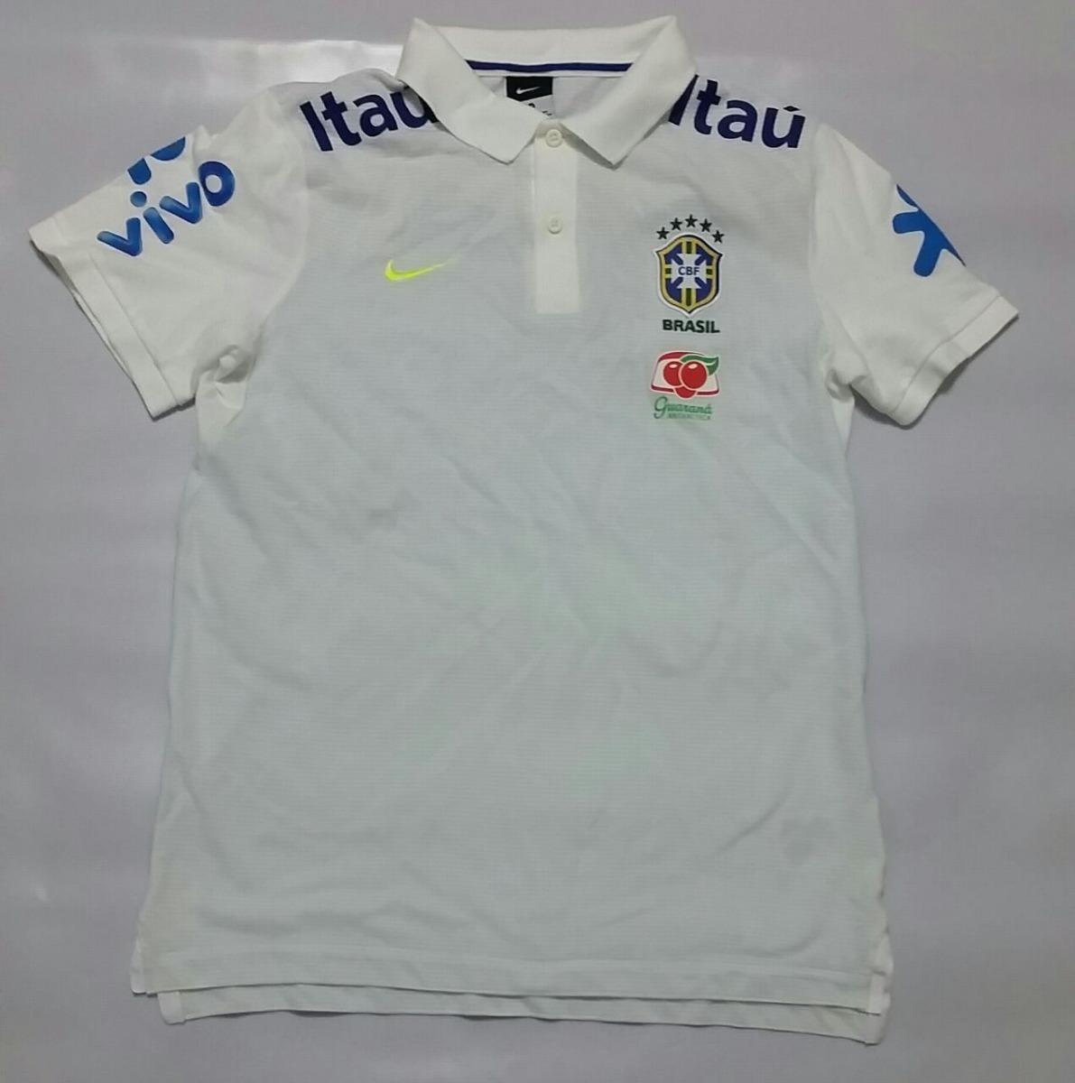 camisa polo nike seleção brasileira cbf 2017 branca. Carregando zoom. 066dc54a5dc67