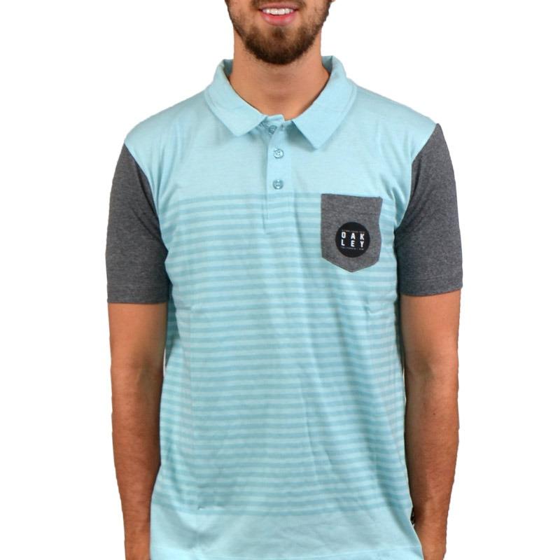 camisa polo oakley studio azul. Carregando zoom. 74f6ebd9c7a3b
