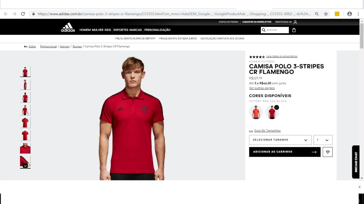 168a80807d camisa polo original flamengo adidas 3s com. técnica 2018. Carregando zoom.