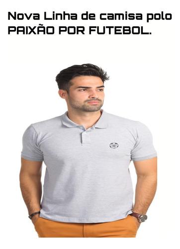 camisa polo paixão por futebol