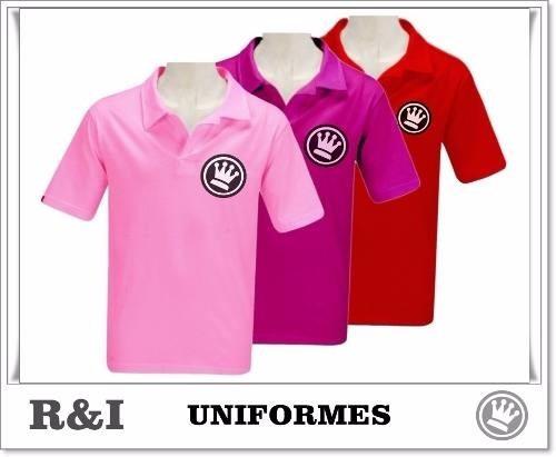 Camisa Pólo Personalizada Com Bordado Na Frente - R  30 13d62ac7175e2