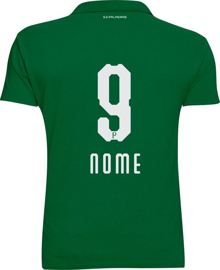 camisa polo personalizada palmeiras torcedor com nome numero. Carregando  zoom. 62725b4bbca74