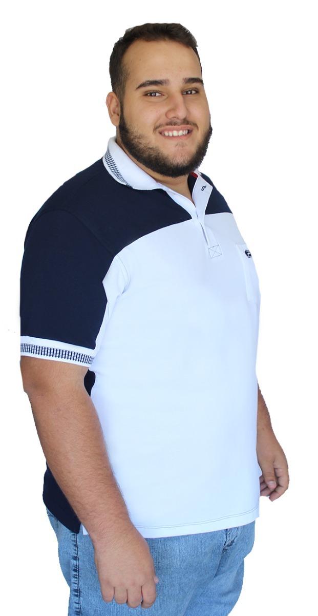 camisa polo piquet bolso recorte pp p m g gg camiseta. Carregando zoom. ad71edc73b4a8