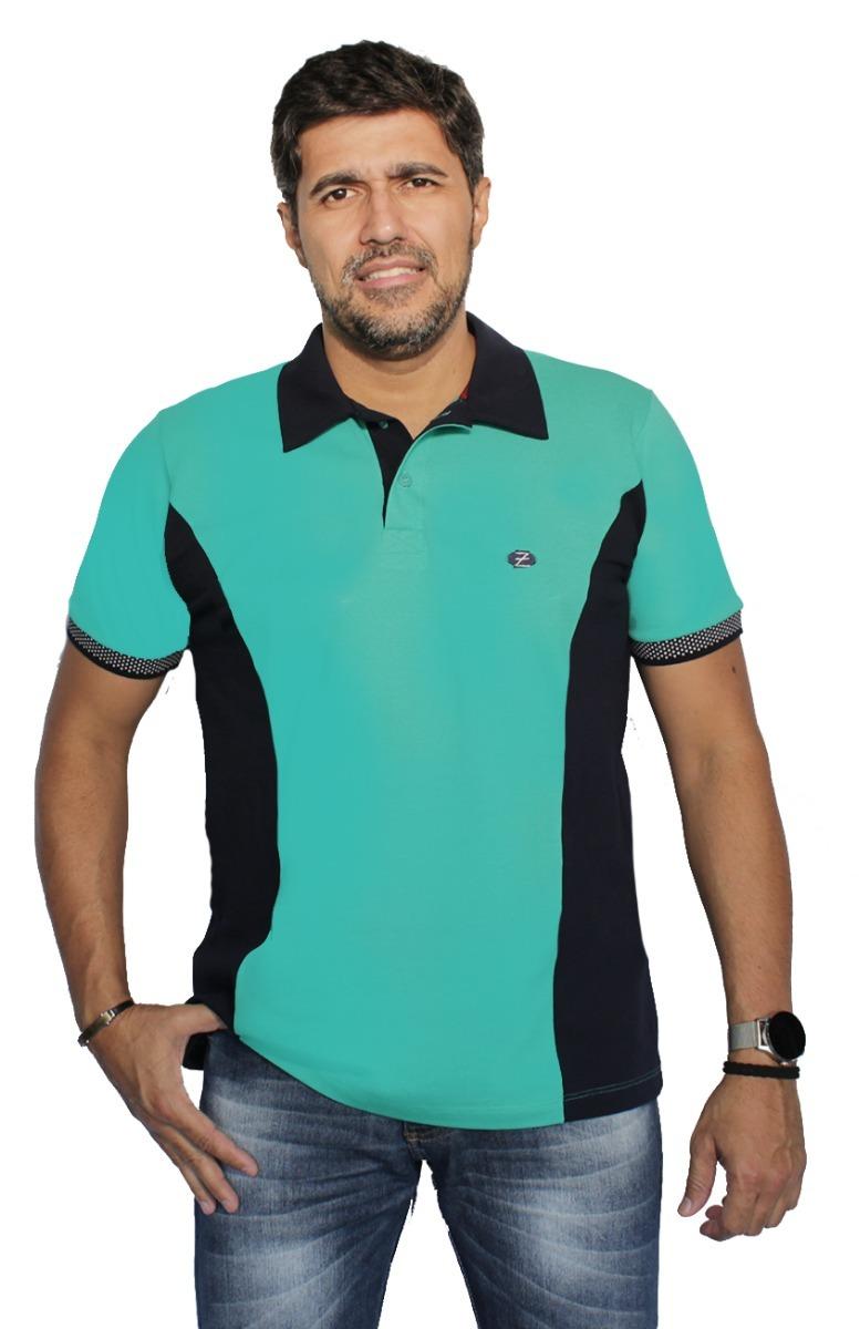camisa polo piquet com recorte masculino pp p m g gg zambelê. Carregando  zoom. af1506b9eae5e