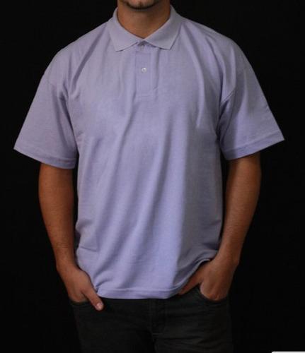 camisa polo - piquet - lilás -