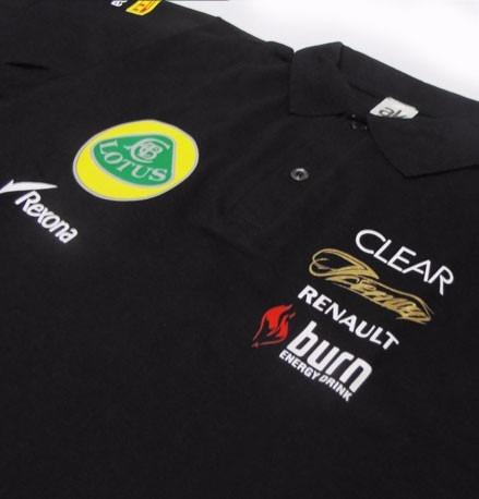 camisa pólo piquet - lotus f1 team racing - fr016