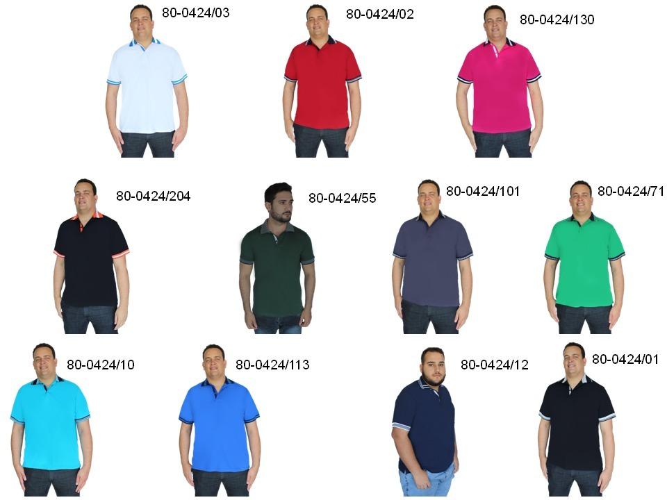 5df08d9b5 camisa polo plus size extra grande big g1g2 g3 g4 g5 g6 g7. Carregando zoom.
