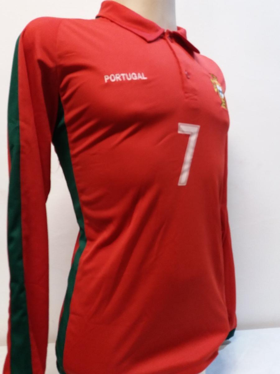 52a00a61b5 camisa polo portugal manga longa cr7 cristiano ronaldo 2018. Carregando zoom .