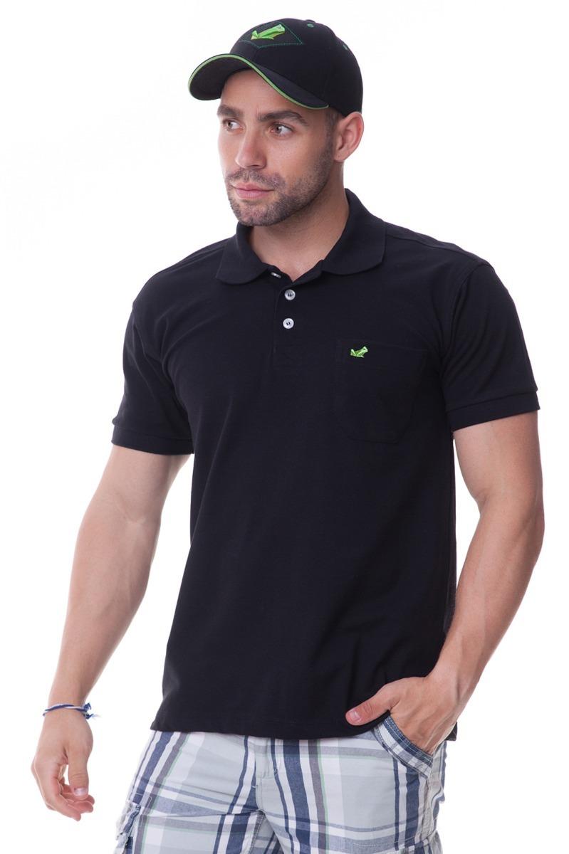 781767ce8a camisa polo preta c  bolso masculina. Carregando zoom.