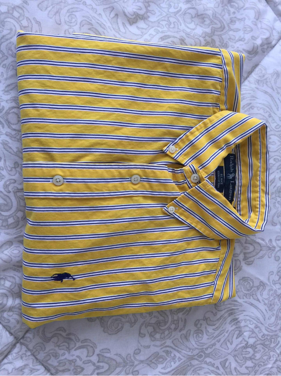 camisa polo ralph lauren amarilla de rayas azules verticales. Cargando zoom. 453d1d5281d