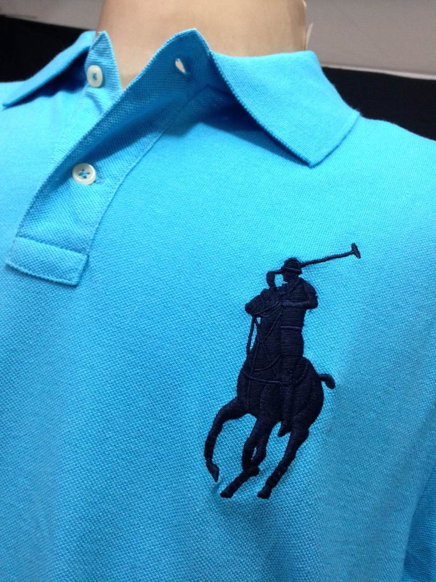 camisa polo ralph lauren azul claro tam ggg camiseta. Carregando zoom. 8f91a3299c4f8