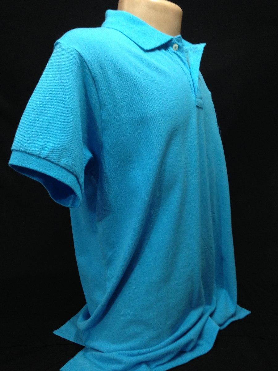 ea747e7483 camisa polo ralph lauren azul claro tam ggg camiseta. Carregando zoom.