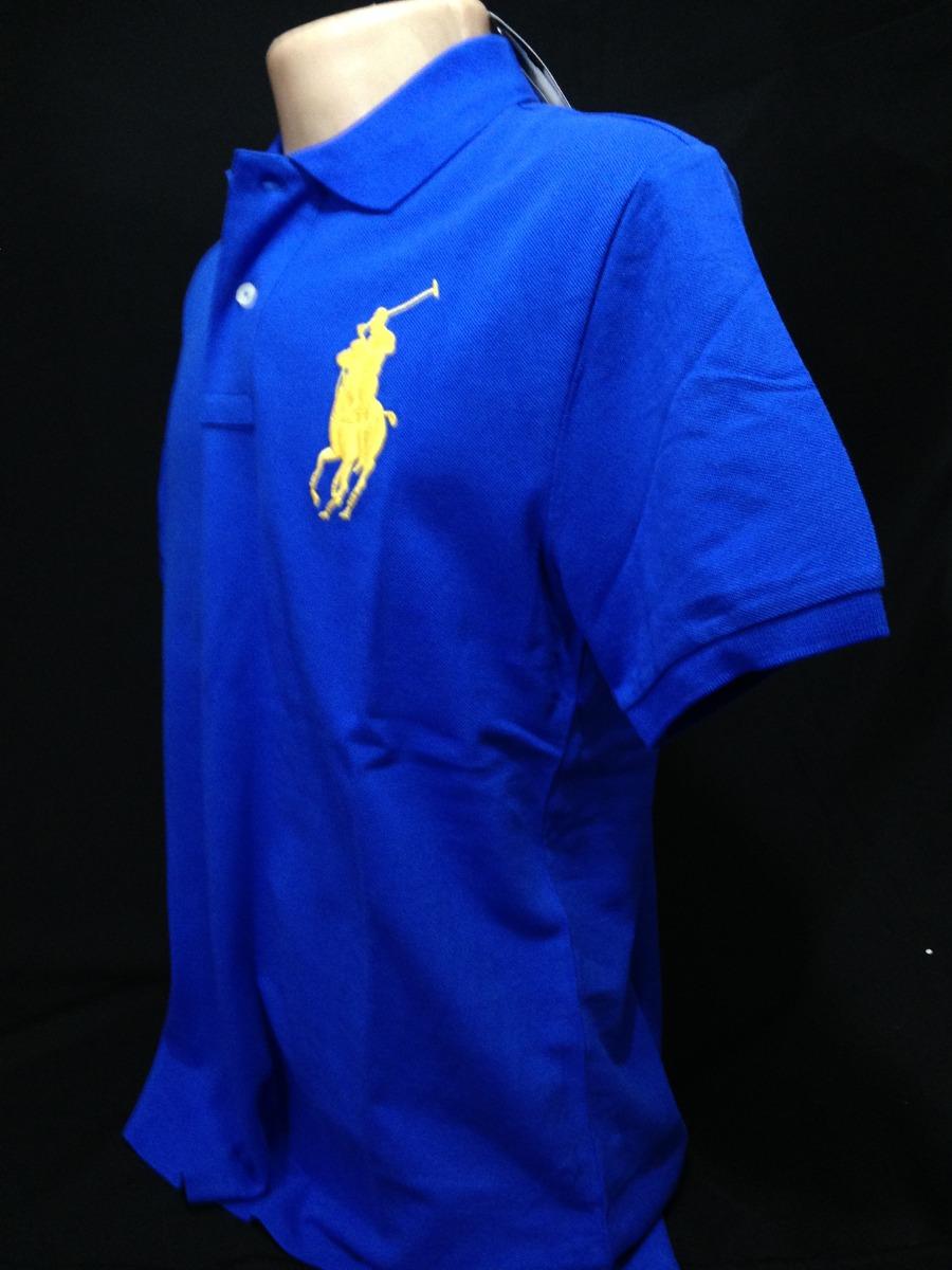 335c4d6501 camisa polo ralph lauren azul simbolo amarelo tam g camiseta. Carregando  zoom.
