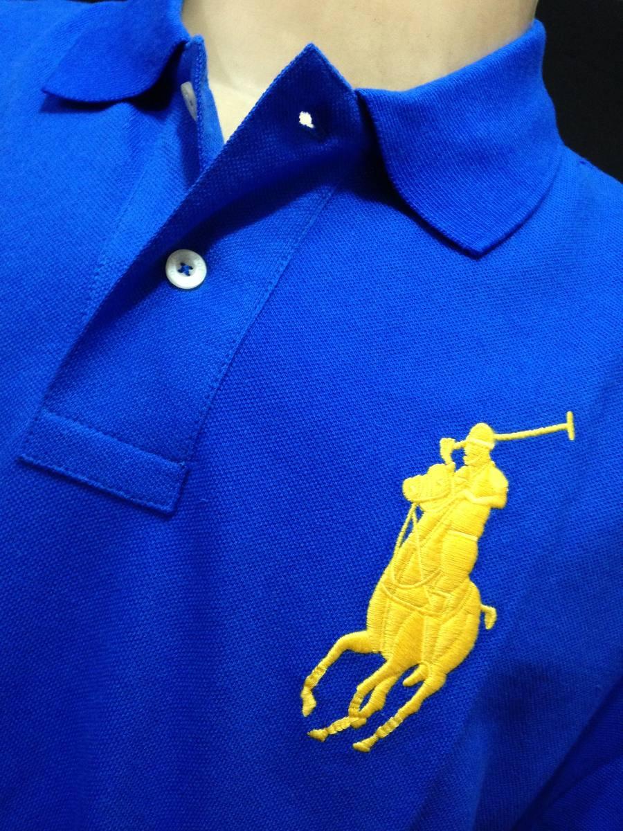 camisa polo ralph lauren azul simbolo amarelo tam g camiseta. Carregando  zoom. 012336e8098