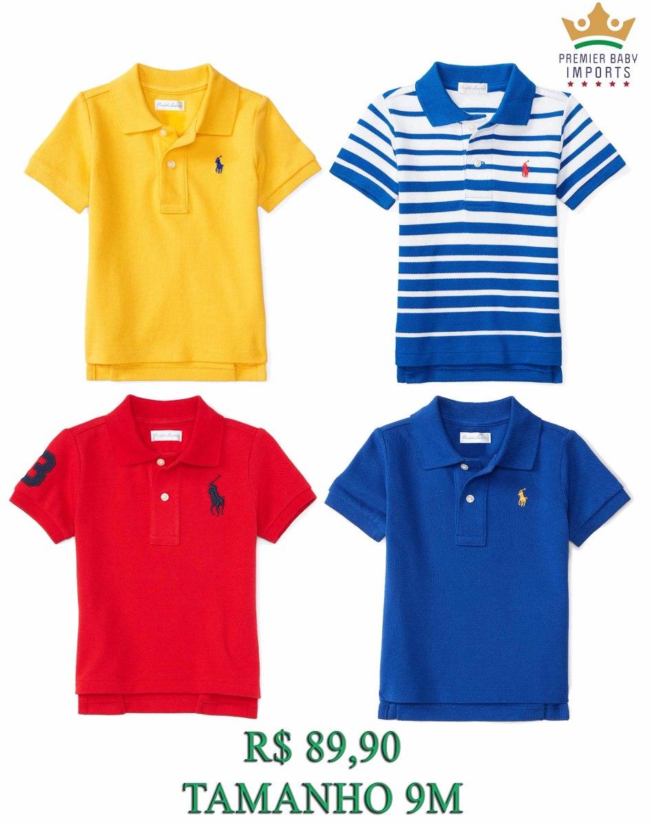 Camisa Polo Ralph Lauren Bebê Criança Original 9m A 2 Anos - R  79 ... ec21a662a7141