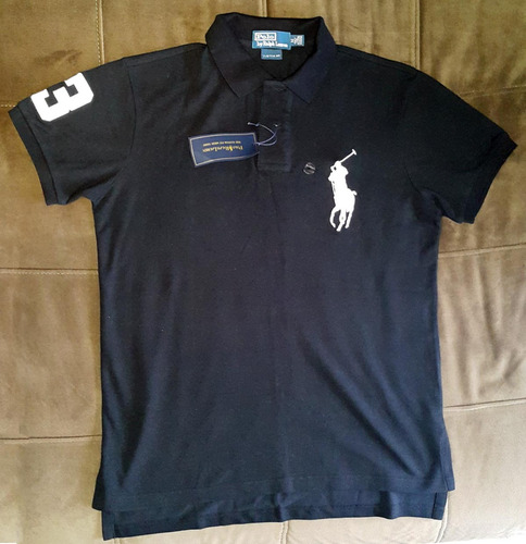 camisa polo ralph lauren big pony preta - tam m - original