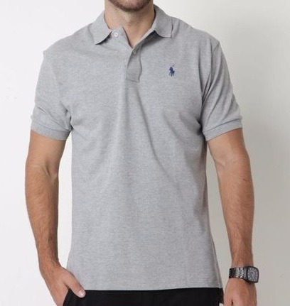 e0ab7dc502 Camisa Polo Ralph Lauren Cinza Lisa Masculino - R  99