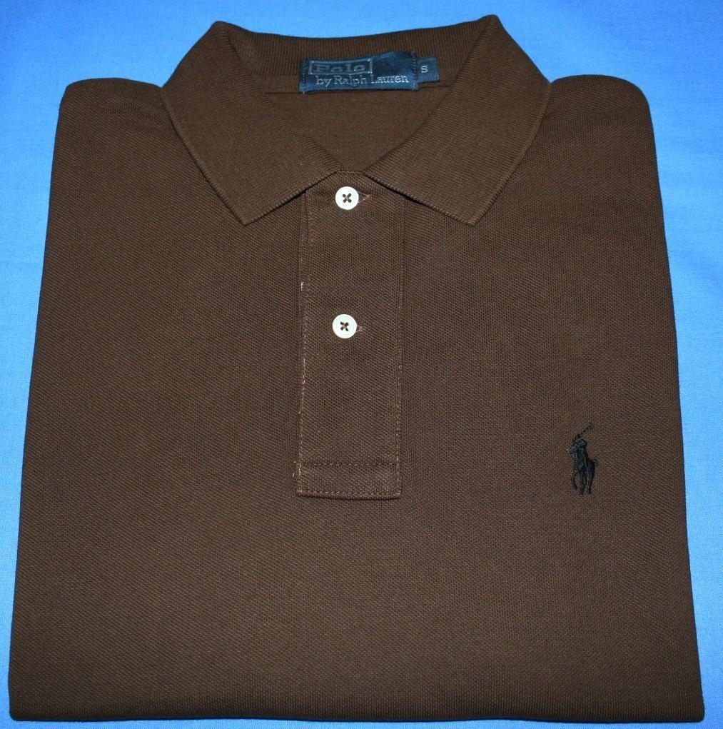 camisa polo ralph lauren classic fit marrom tam. p. Carregando zoom. d0009ea7fe7