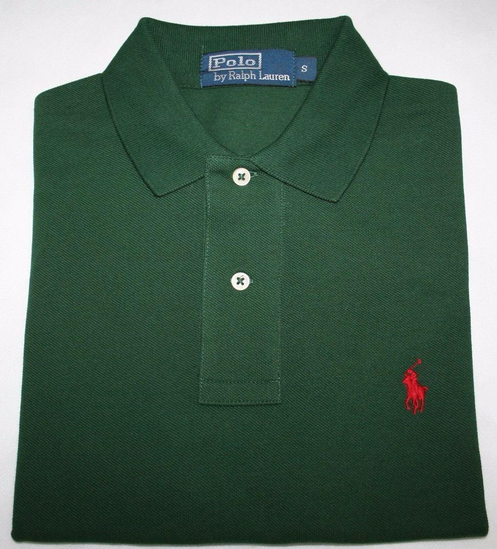 dc0822c71 camisa polo ralph lauren classic fit verde escuro tam. p. Carregando zoom.