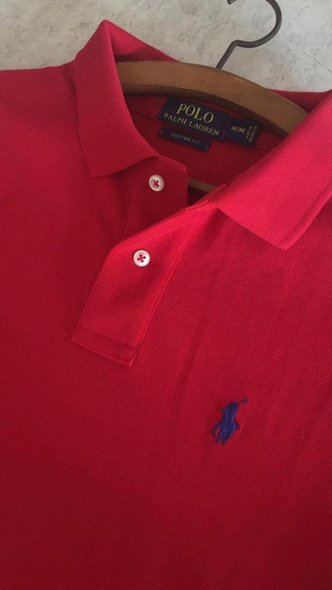 419d763dd0 camisa polo ralph lauren custom fit original vermelha. Carregando zoom.