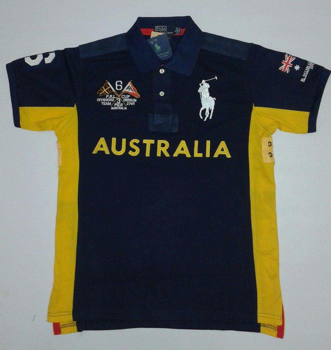 Camisa Polo Ralph Lauren Ediçoes Paises Austrália - R  83 bf1d85d5a9bb1