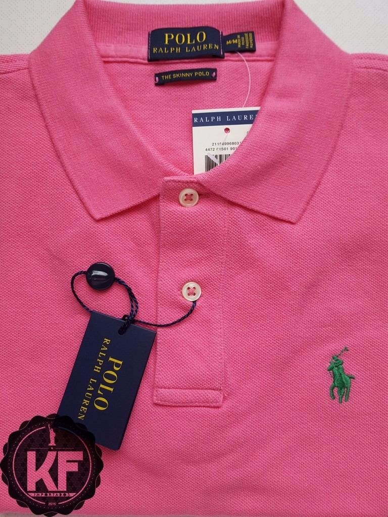 camisa polo ralph lauren feminina the skinny polo m. Carregando zoom. 33c7c6d63ac