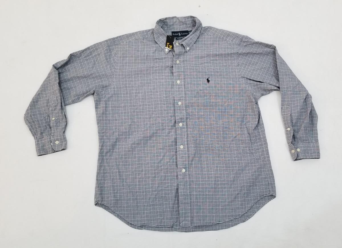 camisa polo ralph lauren, grande 16 1 2 32-33, rayas azul. Cargando zoom. 659b26800cb