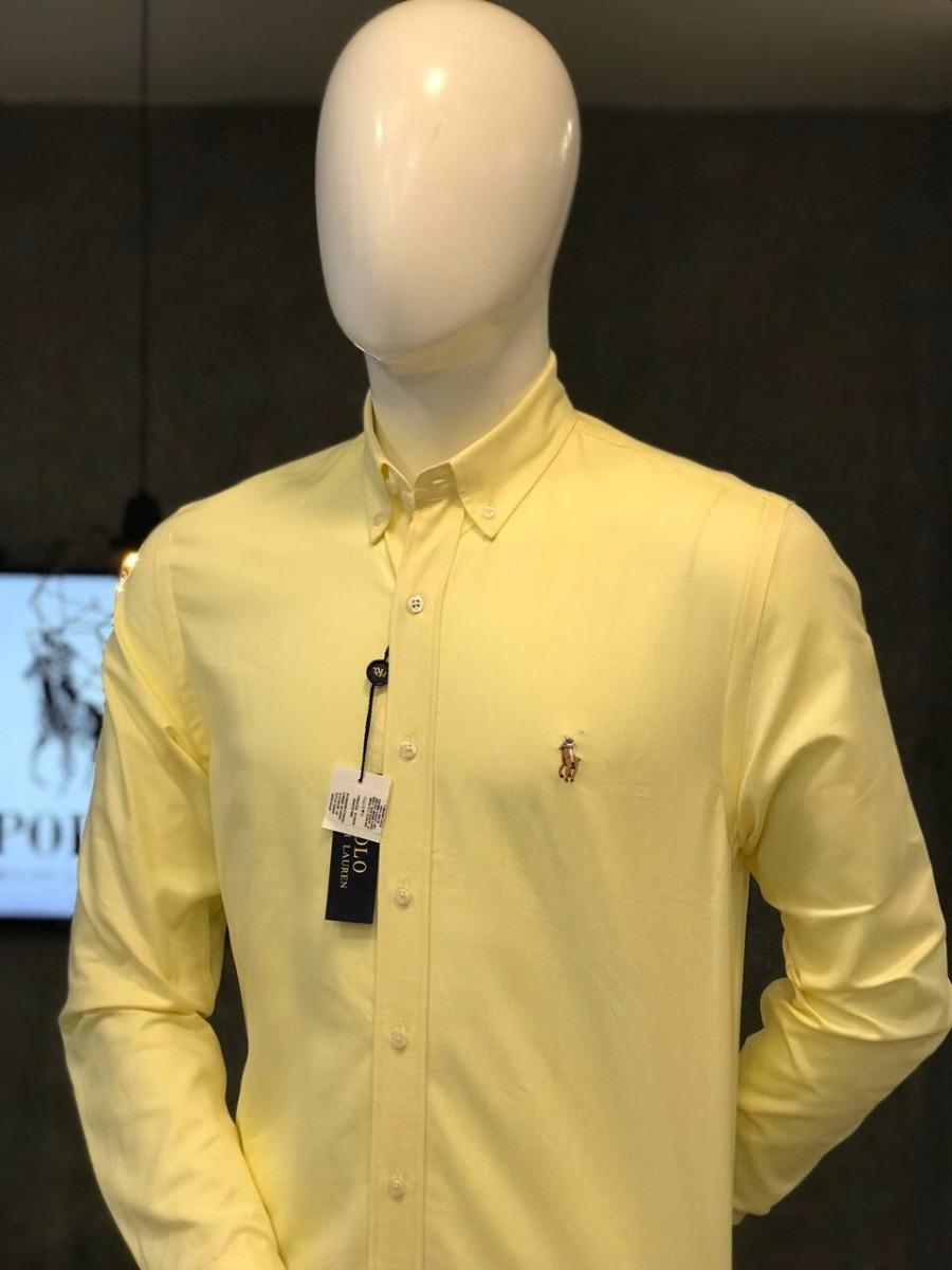 Camisa Lauren Color Amarillo Hombre Ralph Polo XZTPuOik