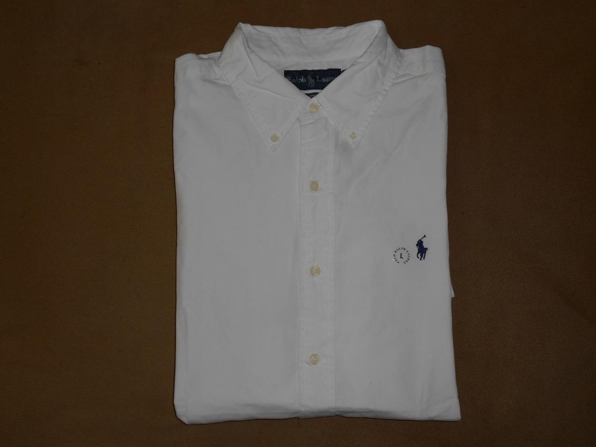 Camisa Polo Ralph Lauren L Manga Corta Blanca -   450.00 en Mercado ... c1415683e5b35