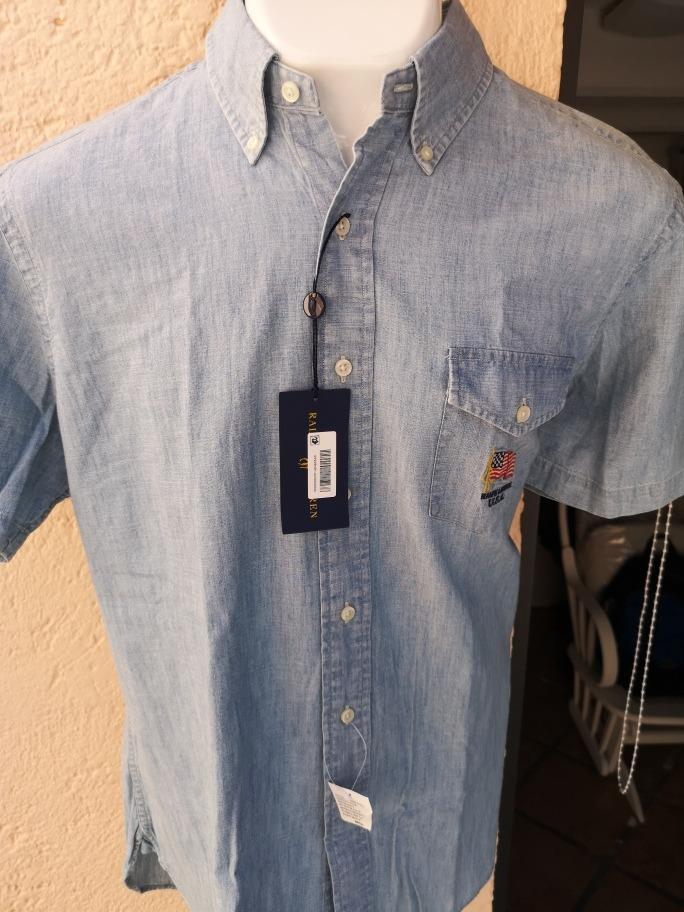 camisa polo ralph lauren l mezclilla (boss, tommy, brooks). Cargando zoom. 08c9176eeab