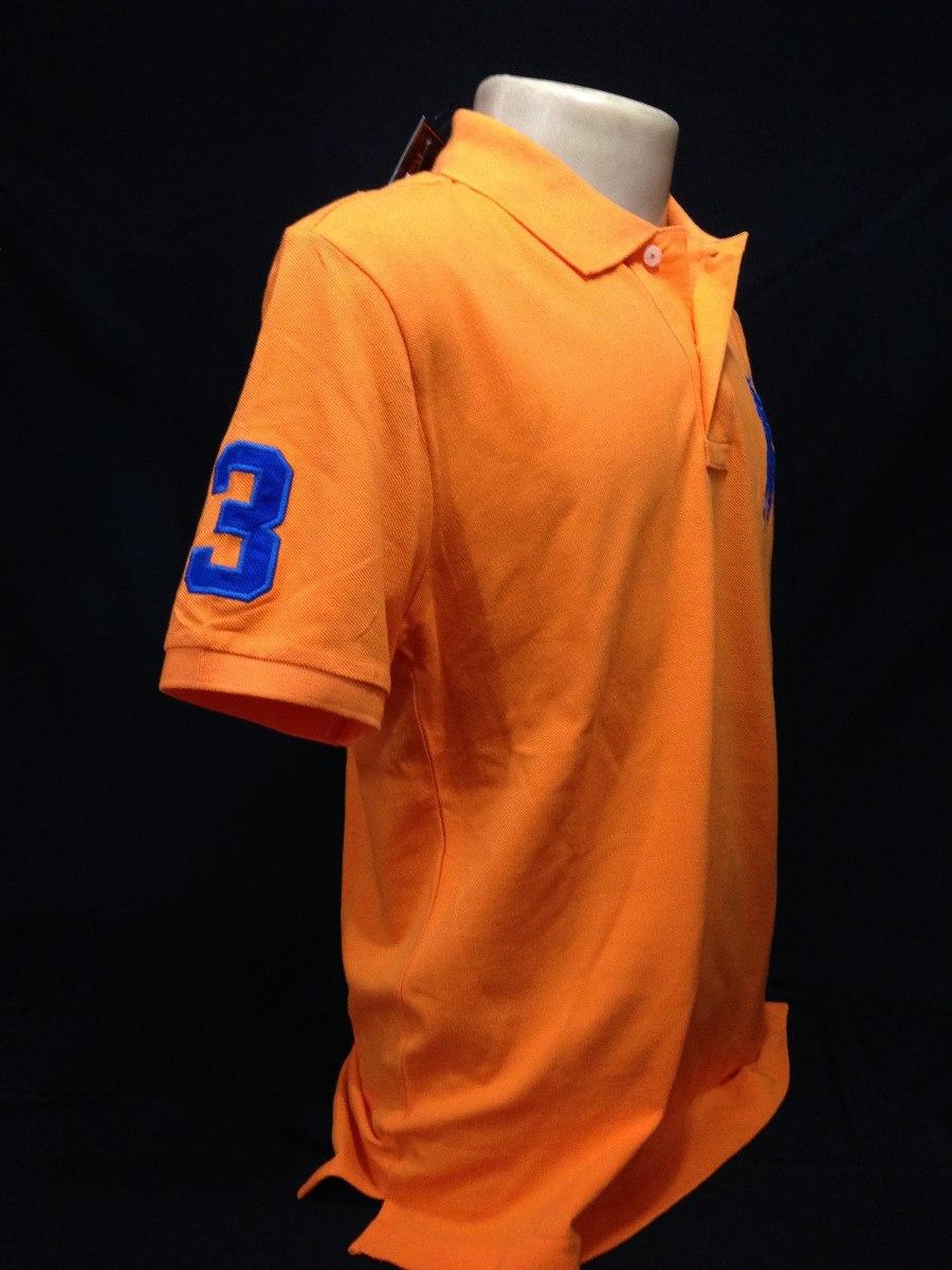 c6766bc8c5fdc camisa polo ralph lauren laranja simbolo azul tam m camiseta. Carregando  zoom.