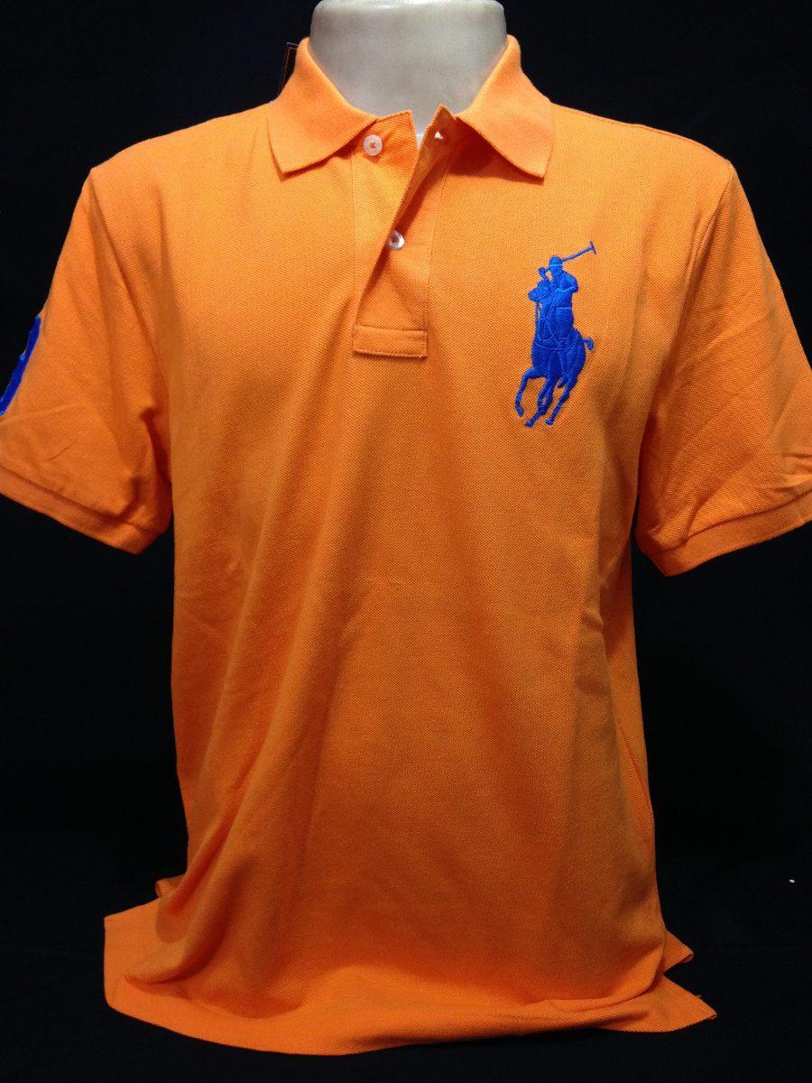 ada7b7c487 camisa polo ralph lauren laranja simbolo azul tam m camiseta. Carregando  zoom.