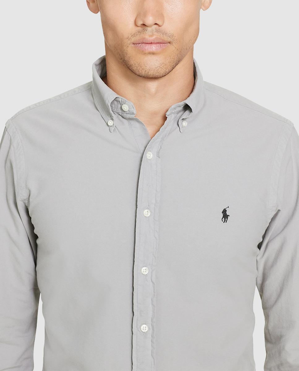 camisa polo ralph lauren manga larga color gris. Cargando zoom. 3113cc906e327