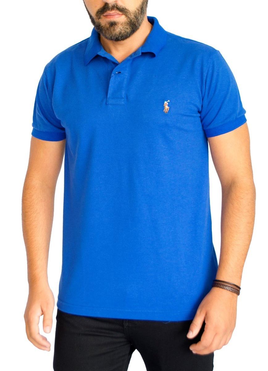 c6c2dc1665 camisa polo ralph lauren masc c fit azul royal logo colorido. Carregando  zoom.