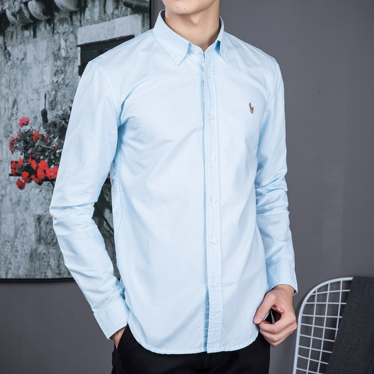 camisa polo ralph lauren masculina azul claro pronta entrega. Carregando  zoom. a1c851fc9e0