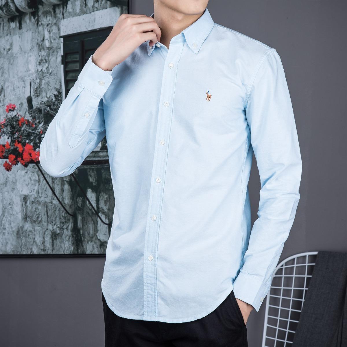 camisa polo ralph lauren masculina azul claro pronta entrega. Carregando  zoom. 5d1dfc9f076