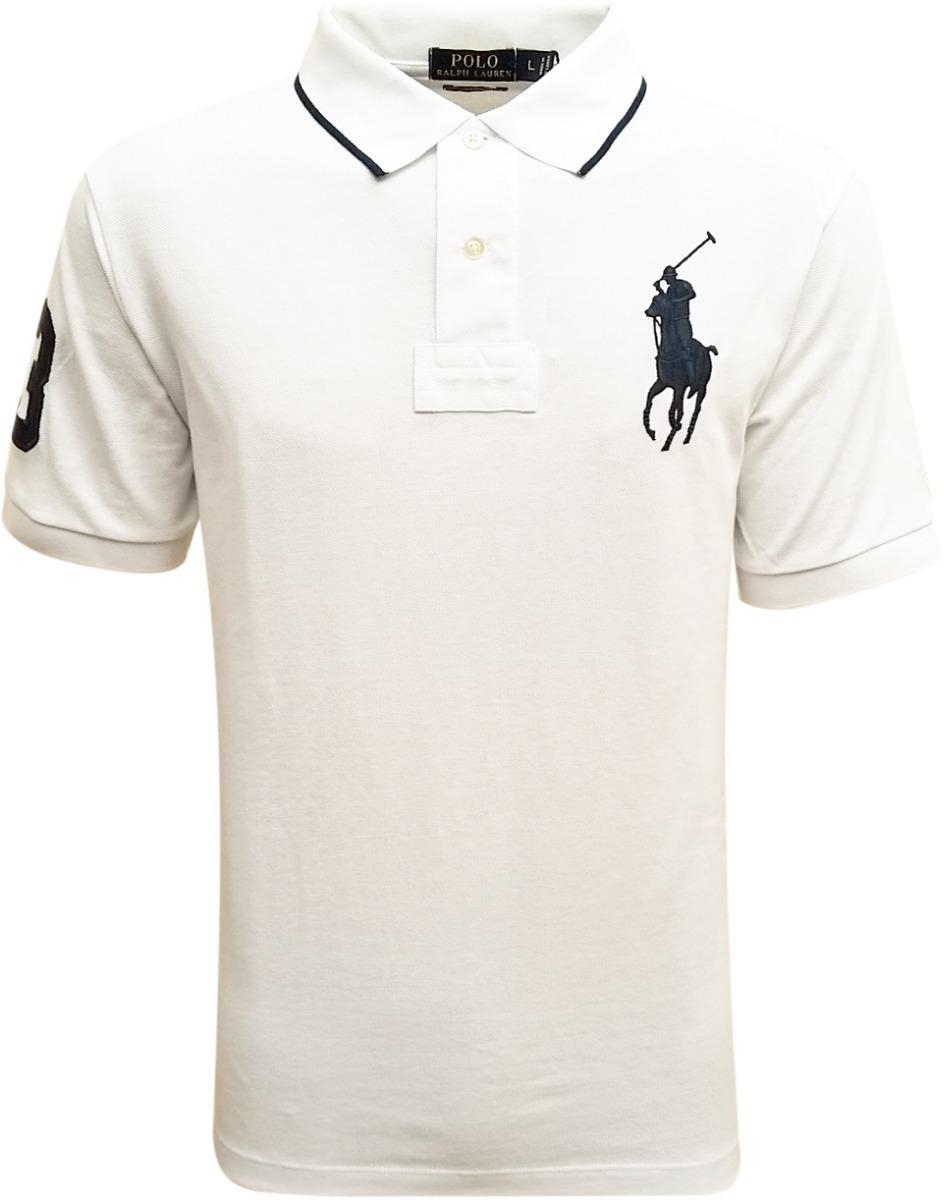 camisa polo ralph lauren masculina branca barra assimétrica. Carregando zoom . 958c262220a