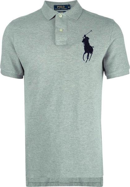 1c80e3e9bf Camisa Polo Ralph Lauren Masculina Cinza Pronta Entrega - R  169