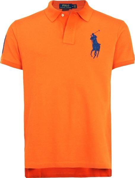 Camisa Polo Ralph Lauren Masculina Laranja Pronta Entrega - R  149 ... 3672c5e7adc3f