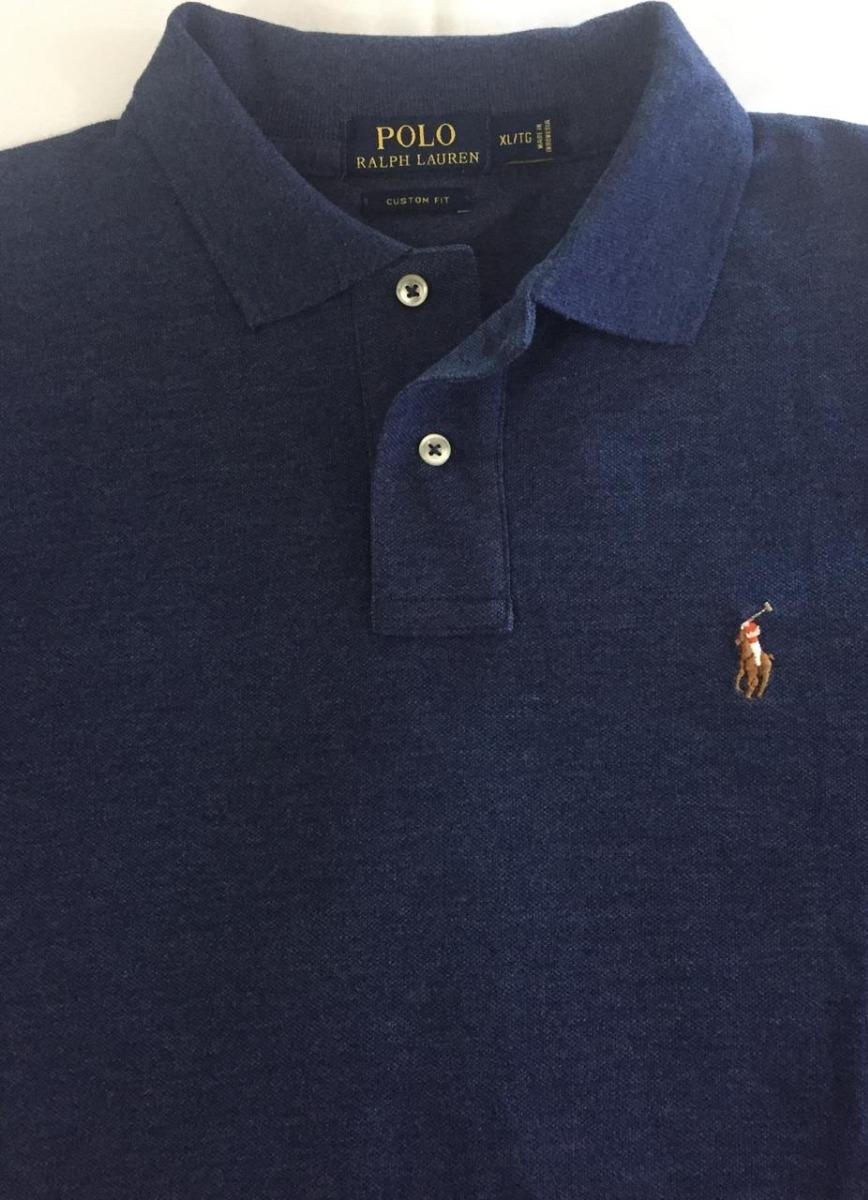 ad33eb9d9a Camisa Polo Ralph Lauren Masculina Original Azul - R  249