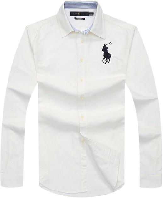 Camisa Polo Ralph Lauren Masculina Oxford Branca - R  249 55df4f1d798ae