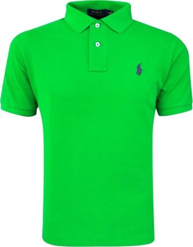 Camisa Polo Ralph Lauren Masculina Verde Pronta Entrega - R  159 c81e58221a4