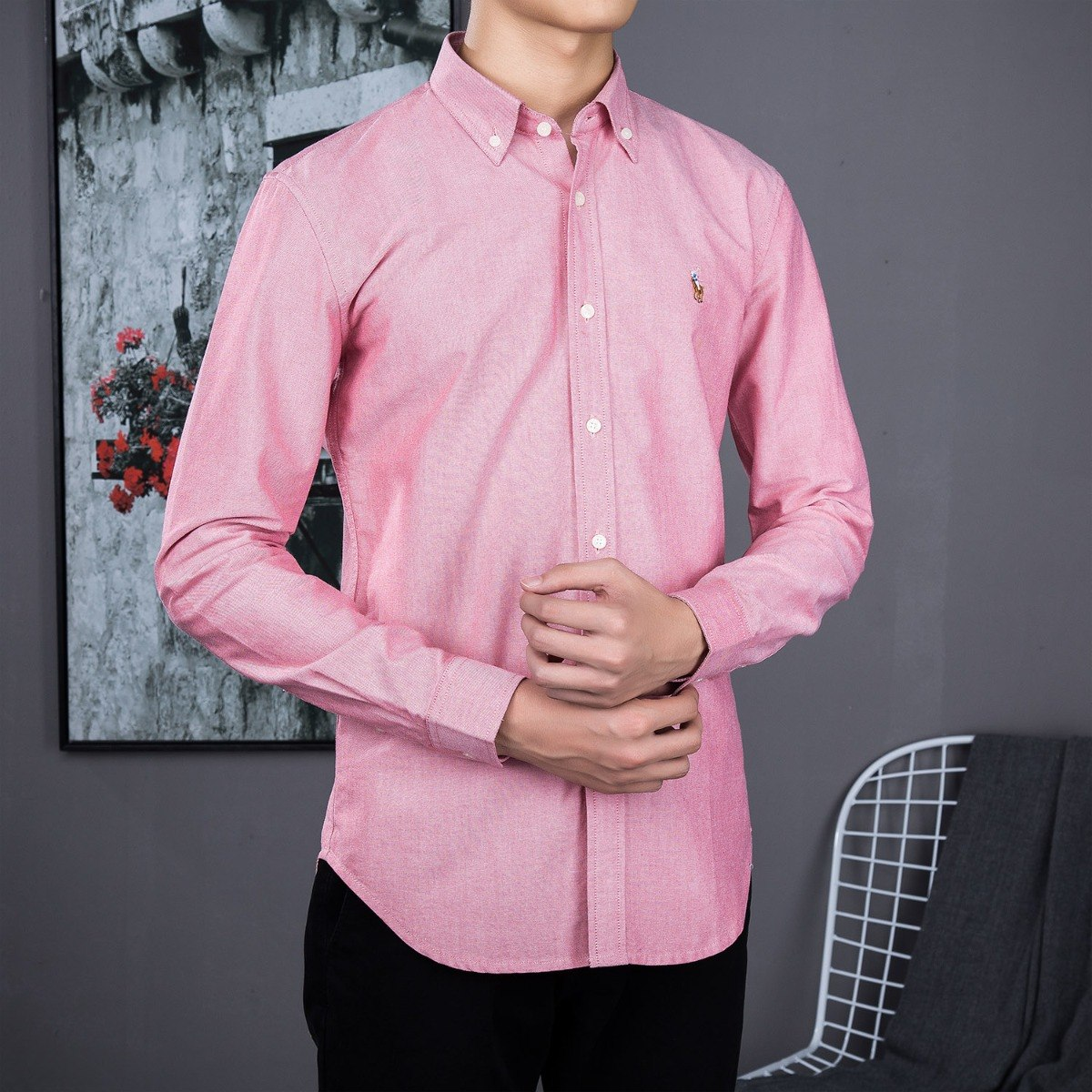 camisa polo ralph lauren masculina vermelha pronta entrega. Carregando zoom. 46ec78ed5bc
