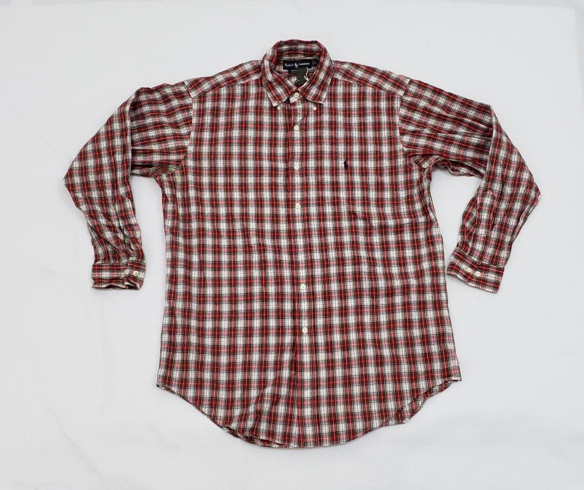 4954ec28b camisa polo ralph lauren, mediana 15 1/2, 32-33 cuadros rojo. Cargando zoom.