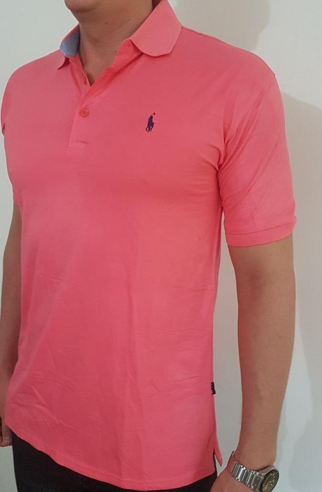 camisa polo ralph lauren nova- salmao gg com elastano. Carregando zoom. 32b904fa194